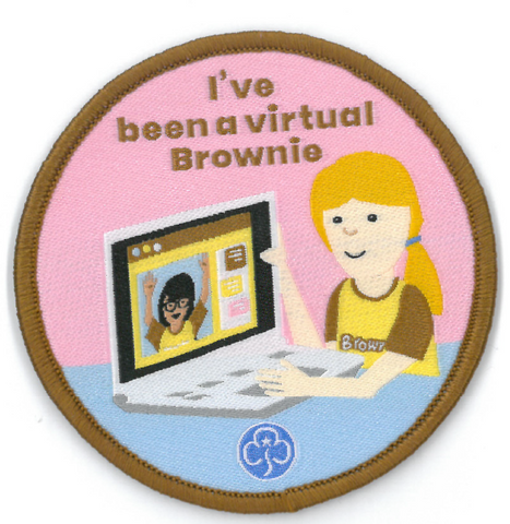 I've Been a Virtual Brownie Woven Badge