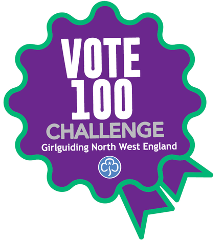 Vote 100 Challenge Woven Badge
