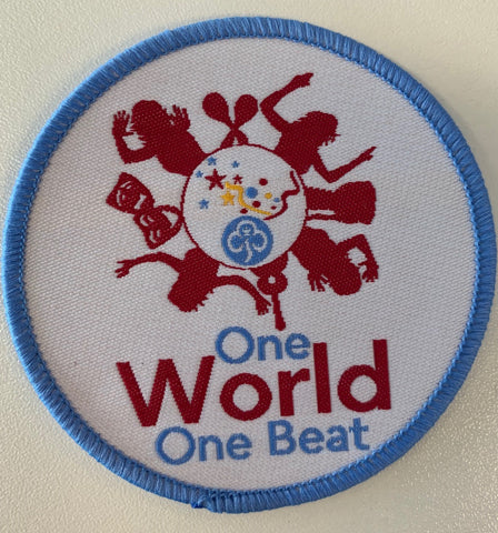 One World One Beat Woven Badge
