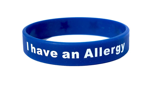 I Have an Allergy Silicone Wristband