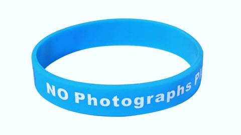 No Photos Please Silicone Wristband