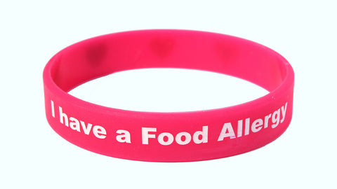 I Have a Food Allergy Silicone Wristband