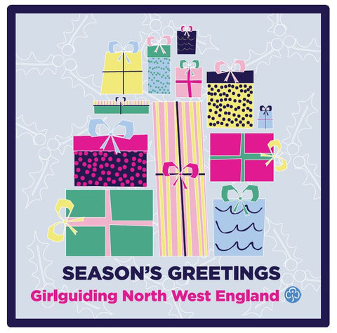 Girlguiding North West England Christmas Season's Greetings Woven Badge