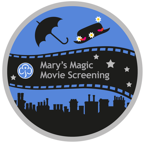 Mary's Magic Movie Screening Woven Badge