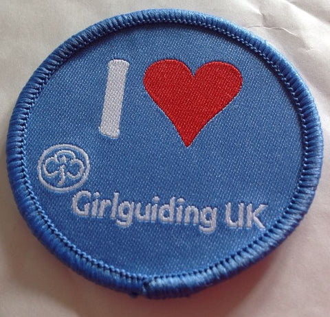 I Love Girlguiding UK Woven Badge