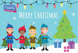 Girlguiding North West England Merry Christmas Cards - Festive Helpers (6pk)