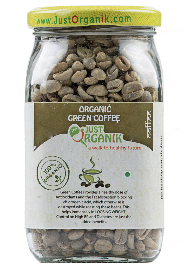 Buy Organic Green Coffee Beans Arabica Just Organik 250gm