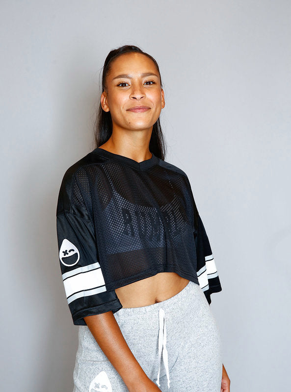 RUMBLE Womens Cropped Football Jersey