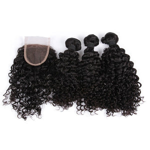 3 x Curly Bundles Plus Closure