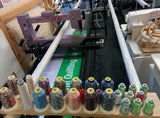 On Quilting Frame Thread Selection Holder and Bobbin Holder