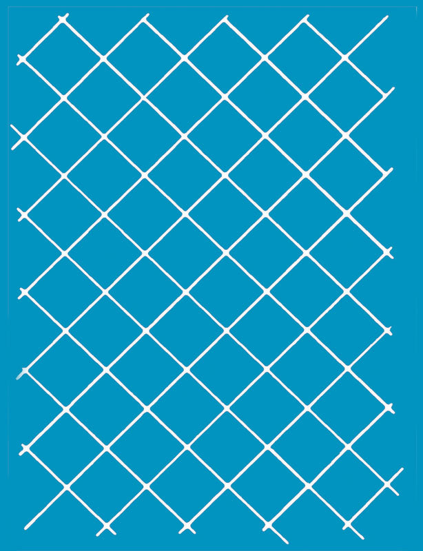 S731 1in Grid Diagonal A4 Stencil