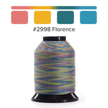 Load image into Gallery viewer, Finesse - Varigated Colors QUALITY QUILTING THREAD by Wonderfil for the Grace Company