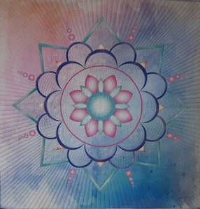 Mandala Colourful Preprinted Panel
