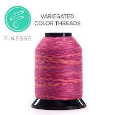 Finesse - Varigated Colors QUALITY QUILTING THREAD by Wonderfil for the Grace Company