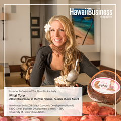 Hawaii Business Magazine 2016 Start-Up Entrepreneur of the Year- Finalist