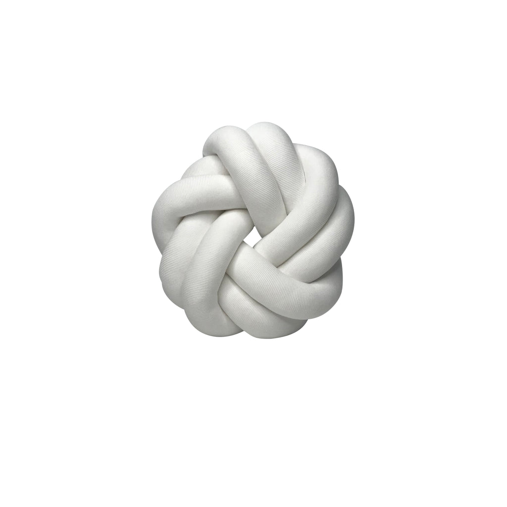 Large Knot Cushion - Circle - White