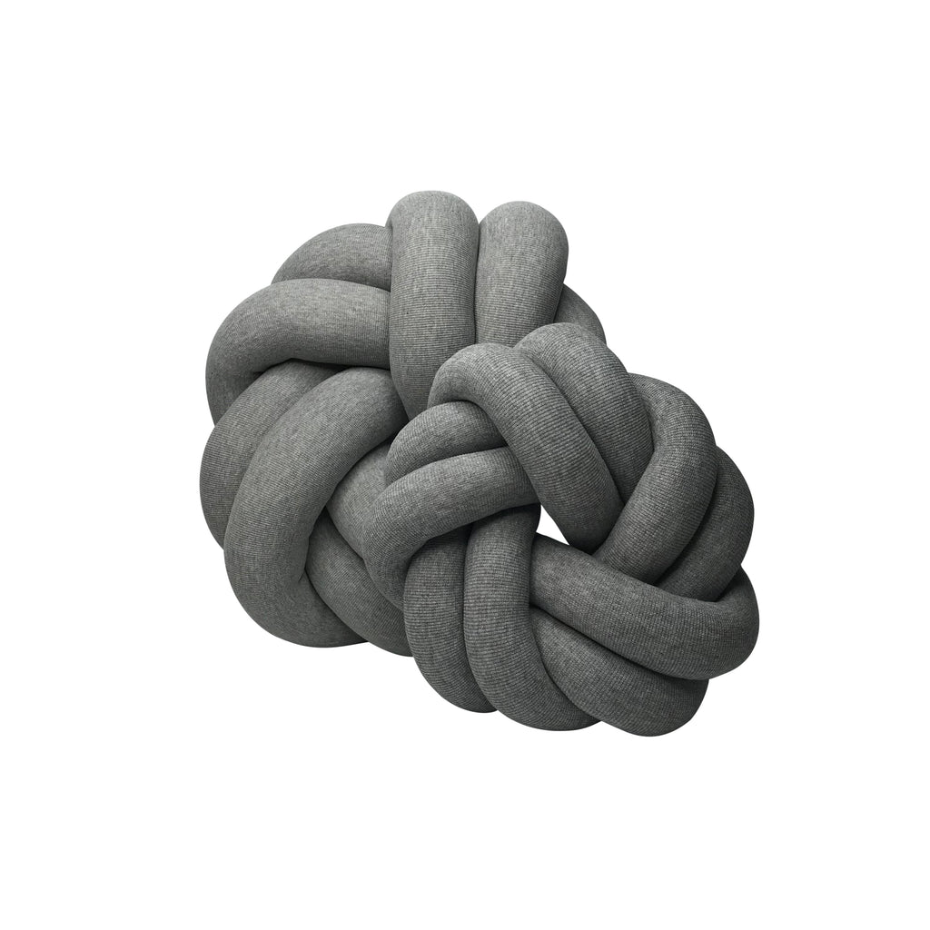 Large Knot Cushion - Circle - Grey