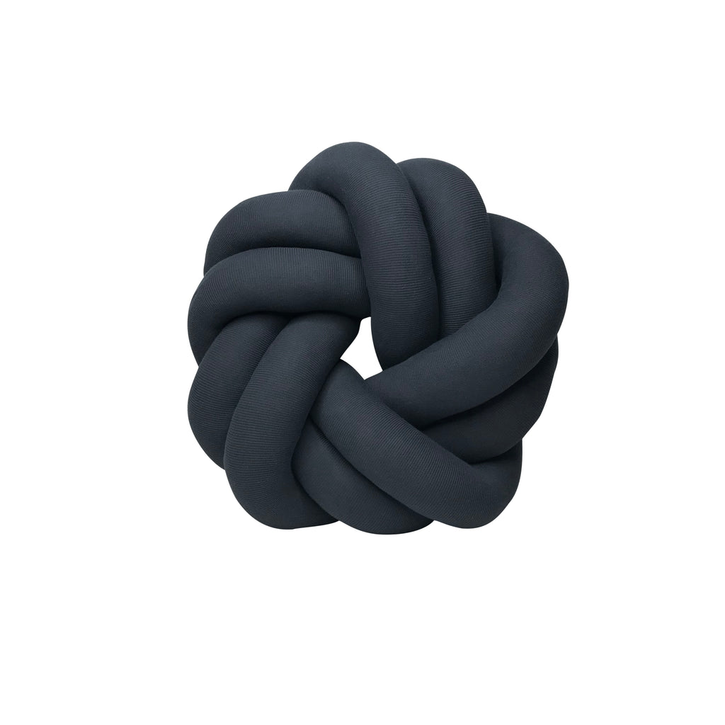Large Knot Cushion - Circle - Charcoal