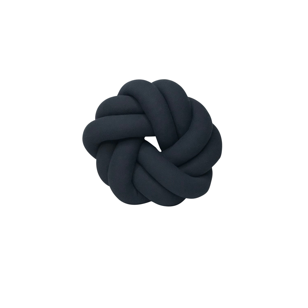 Petite Knot Cushion - Circle - Charcoal