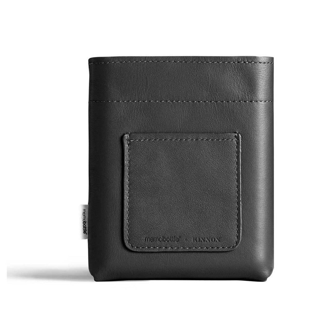 Memobottle - Leather Sleeve Black A6