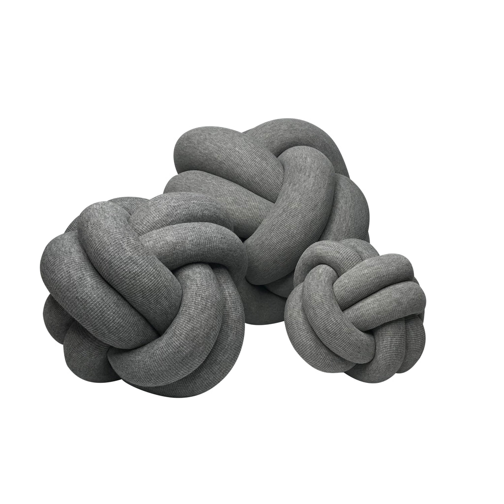 Mini Knot Cushion - Grey