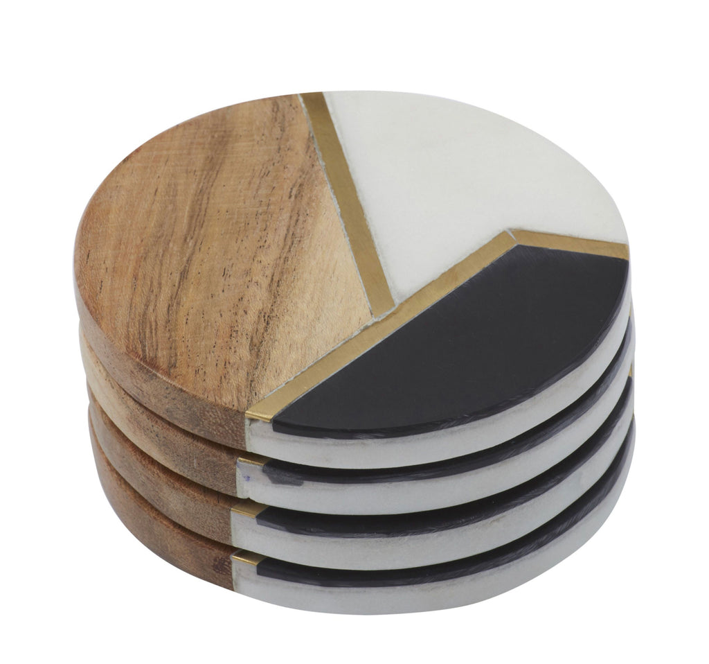 Trinity Brass Inlay Coaster Set