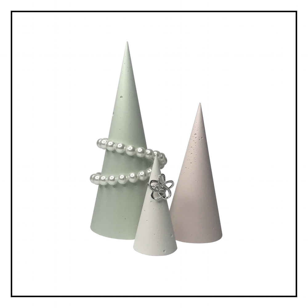 Concrete Jewellery Cones