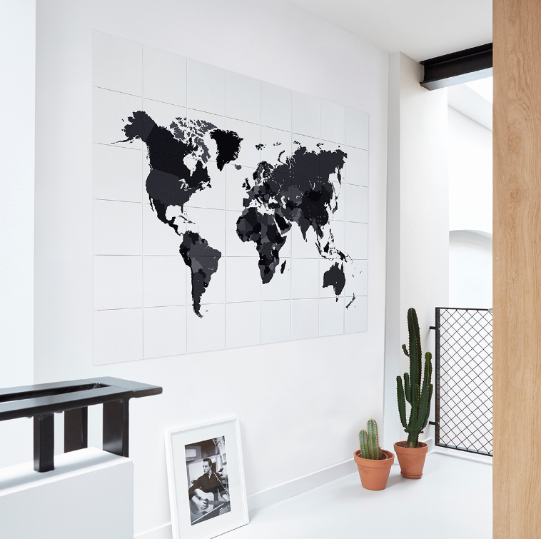 The World Black and White Wall Art