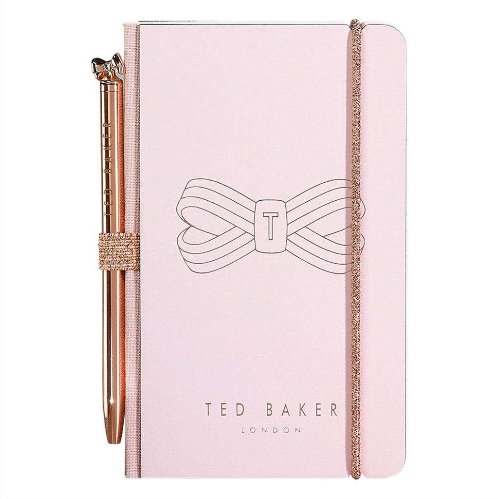 Ted Baker Women's - Mini Notebook & Pen, Pink Bow