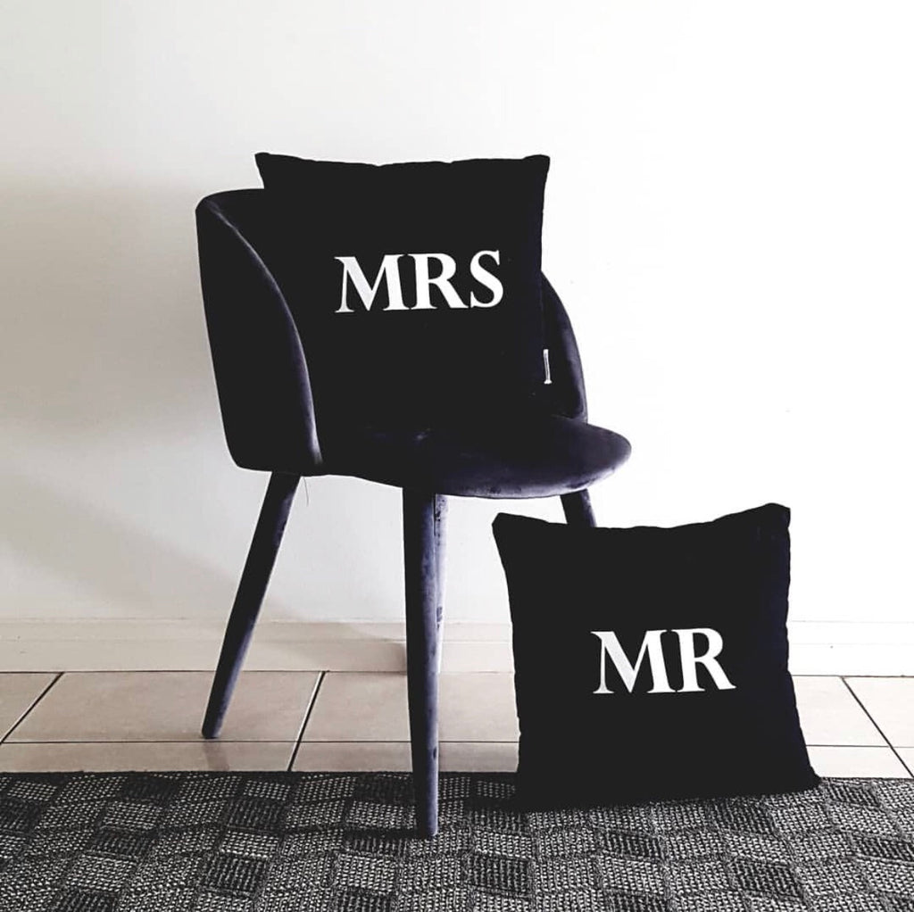 Mr and Mrs Cushion Cover Set
