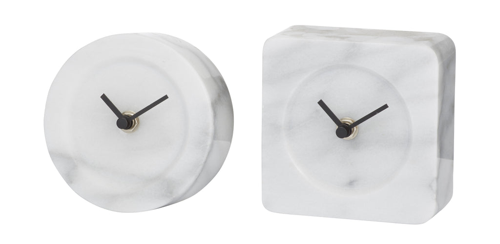 Marcella Marble Mantle Clock - Round
