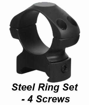 STEEL RINGS - 30MM - 4 SCREWS LOW, MEDIUM OR HIGH