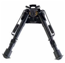 "SWIVEL PIVOT BIPOD - BLACK ALUMINUM 6""-9"""