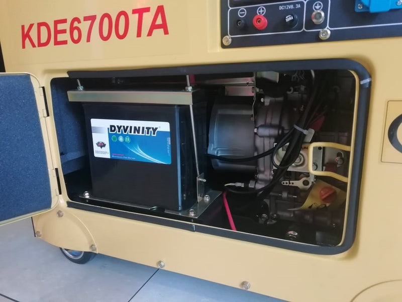 SMITH Residential / Business Silent Diesel Generator KDE8000TA - 6.0kVA