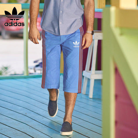 Adidas Cotton Short For Men-Light Sky Blue-BE2631