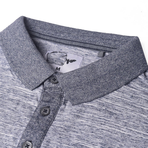 Cedar Wood State Polo Shirt For Men Cut Label-Gray Melange-BE2479