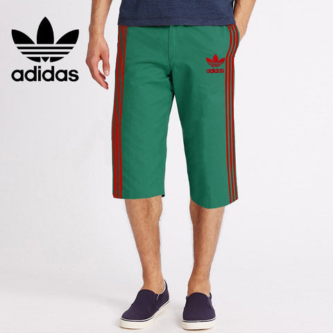 Adidas Cotton Short For Men-Cyan Green-BE2633