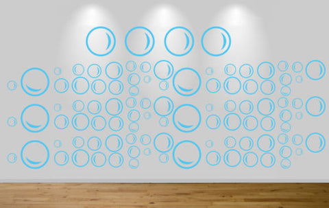100 under the sea bubbles wall sticker art decal car