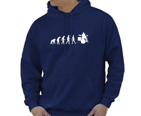 Adult Unisex Kids Evolution Hoodie Ape To Man Evo Drummer Hoody