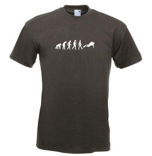 Mens evolution t shirt ape to man evolution scuba diver evolution t shirt