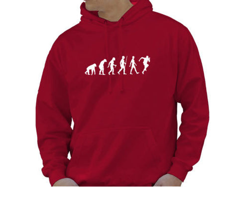 Adult Unisex Kids Evolution Hoodie Ape To Man Evo Runner Hoody