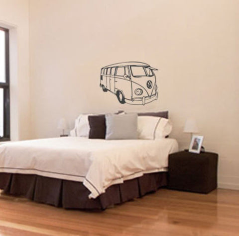 VW camper van vinyl wall art decal sticker