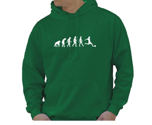 Adult Unisex Kids Evolution Hoodie Ape To Man Evo Football Hoody - Juko