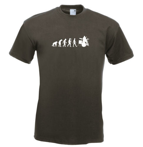 Mens evolution t shirt ape to man evolution t shirt drummer evolution t shirt