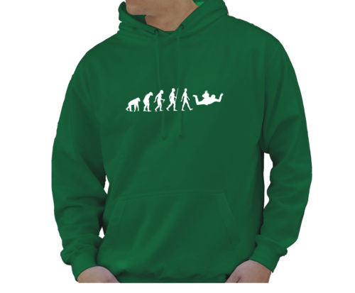 Adult Unisex Kids Evolution Hoodie Ape To Man Evo Sky Diver Hoody - Juko