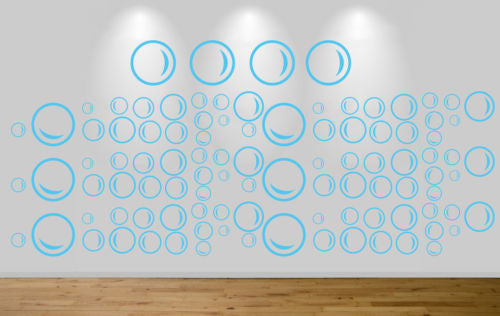 100 under the sea bubbles wall sticker art decal car - Juko