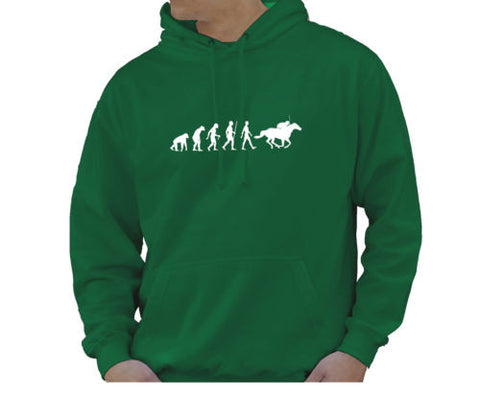 Adult Unisex Kids Evolution Hoodie Ape To Man Evo Horse Riding Hoody