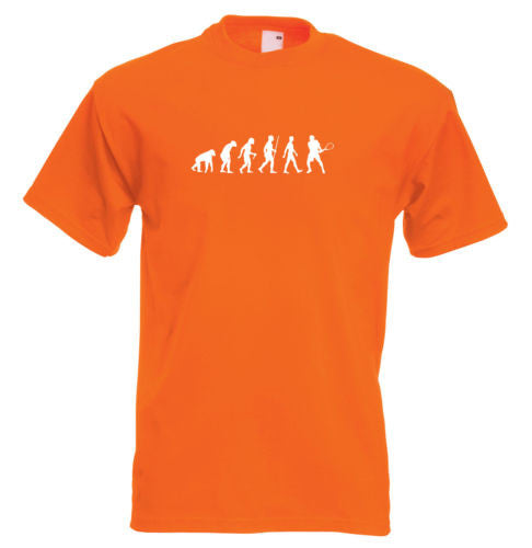 Mens evolution t shirt ape to man evolution tennis evolution t shirt