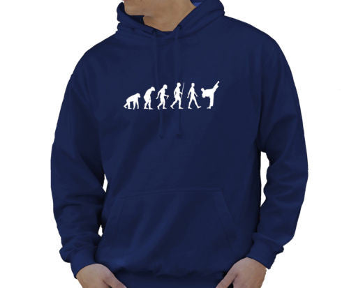 mens evolution hoodie ape to man evolution karate martial arts evolution hoody