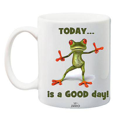 Juko Today Is A Good Day Funny Frog Mug